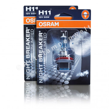Osram Night Breaker Unlimited H11 Halogen Scheinwerferlampe+110%