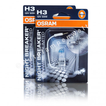 Osram Night Breaker Unlimited H3 Halogen Scheinwerferlampe +110%