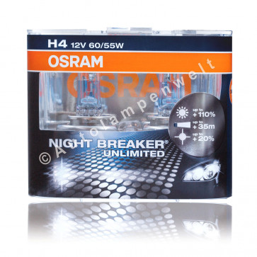 Osram Night Breaker Unlimited H4 +110% versandkostenfrei online bestellen