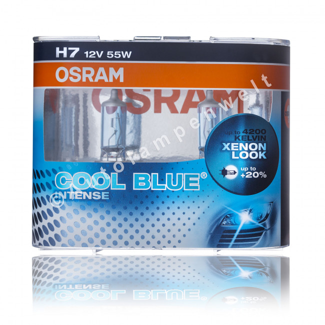 osram cool blue intense h7 halogen scheinwerferlampe. Black Bedroom Furniture Sets. Home Design Ideas
