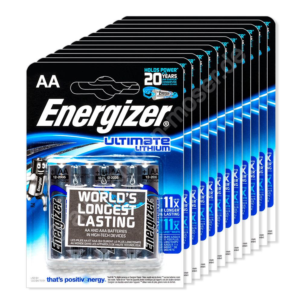 48x mignon aa lr06 batterie energizer ultimate lithium 1 5v 12x 4er blist ebay. Black Bedroom Furniture Sets. Home Design Ideas