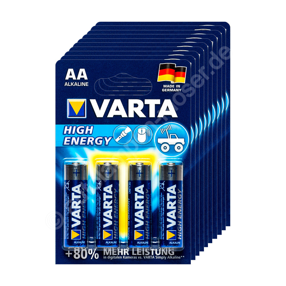 40x mignon aa lr6 batterie alkaline varta high energy. Black Bedroom Furniture Sets. Home Design Ideas