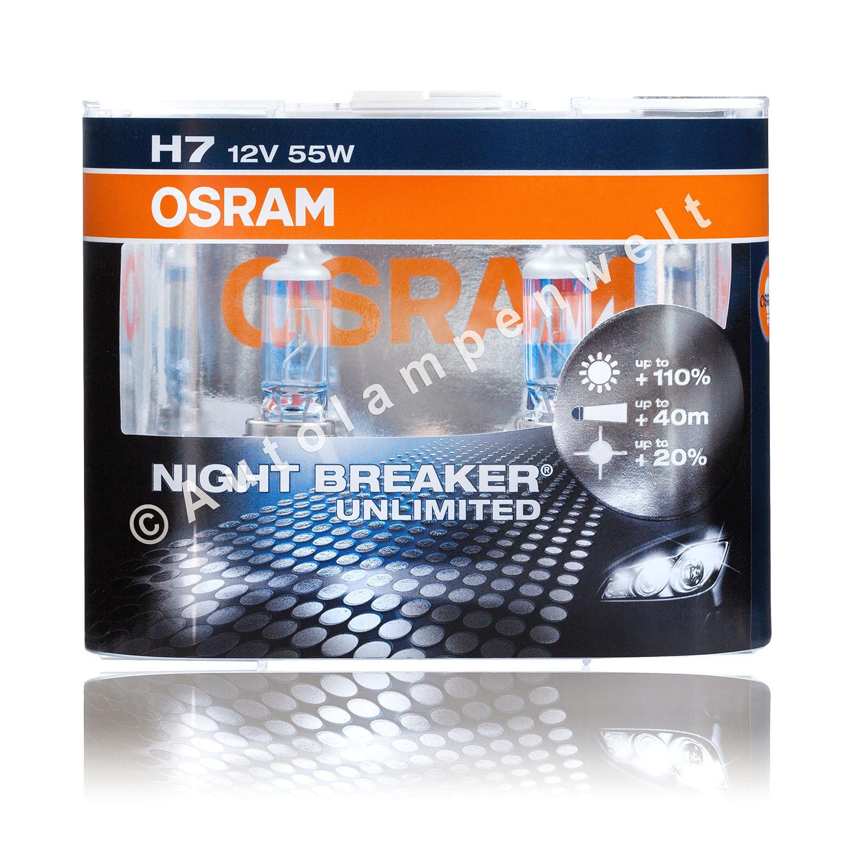 gl hbirne h7 osram night breaker unlimited 64210nbu hcb. Black Bedroom Furniture Sets. Home Design Ideas